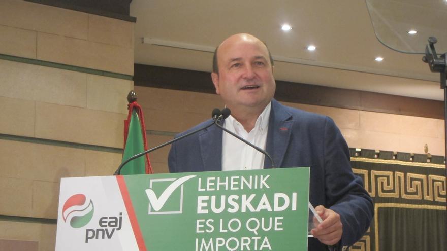 """Ortuzar afirma que el PNV """"centrará su mirada en Euskadi"""" y no """"la girará"""" hacia Madrid"""