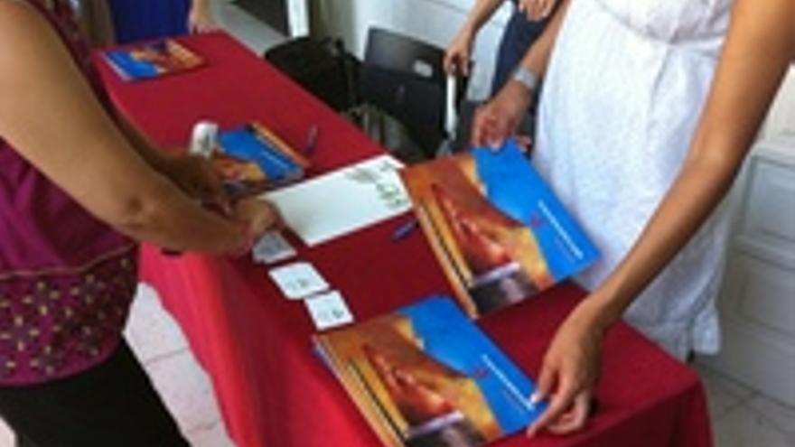 Mesa petitoria de Gesplan en el acto del pasado sábado en Maspalomas.