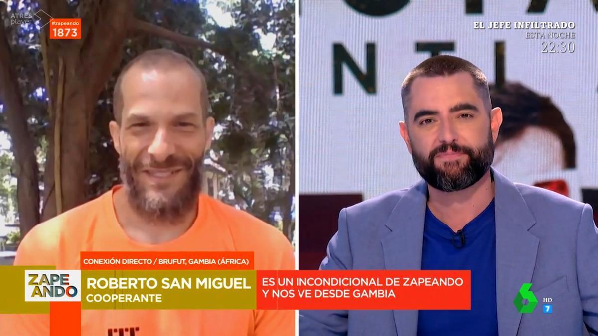 Roberto y Dani Mateo en 'Zapeando'