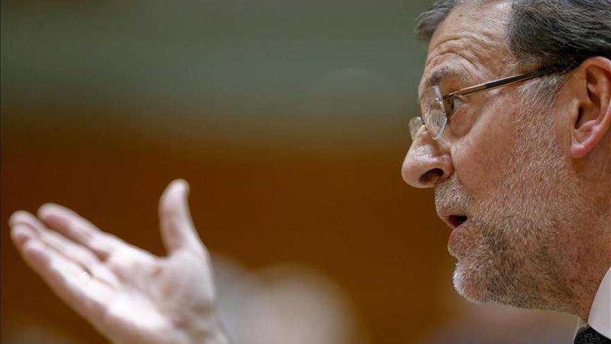 Rajoy da su esperado discurso en Cataluña acompañado de la cúpula del PP