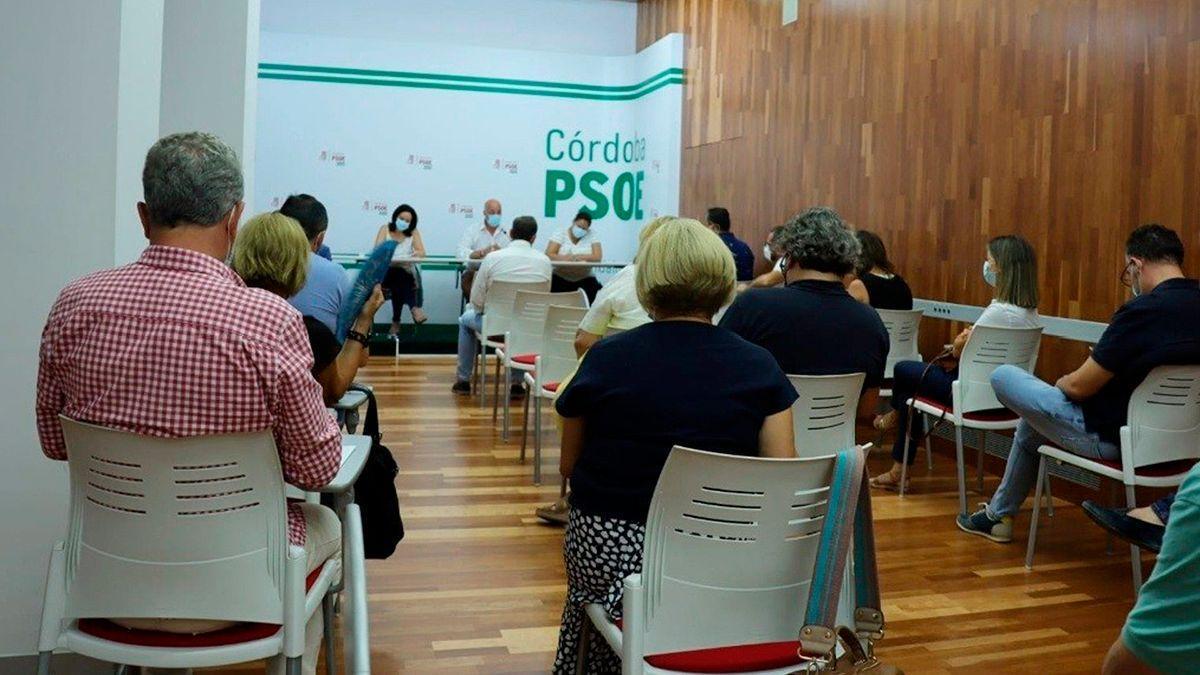 Reunión de la Comisión Ejecutiva del PSOE de Córdoba.
