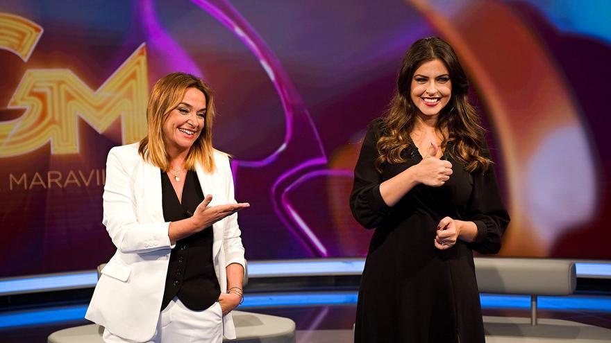 Toñi Moreno (izq) en el estreno de 'Gente Maravillosa'