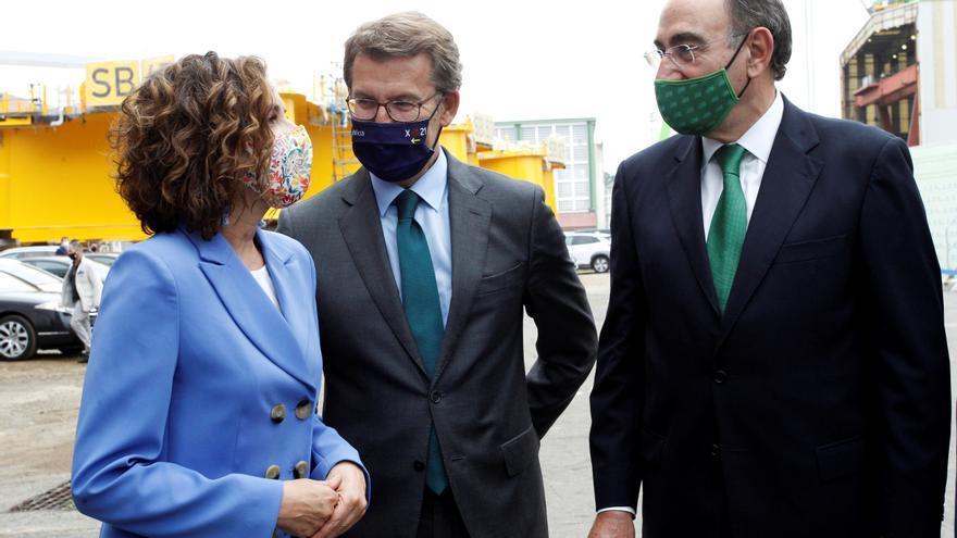 Firma del acuerdo entre las empresas Iberdrola, Windar y Navantia