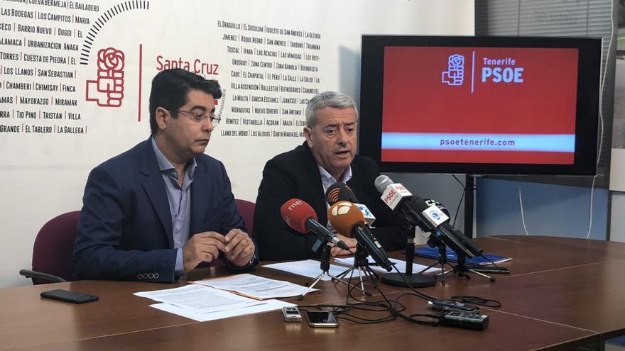 Pedro Martín y Aurelio Abreu, en la rueda de prensa de este lunes