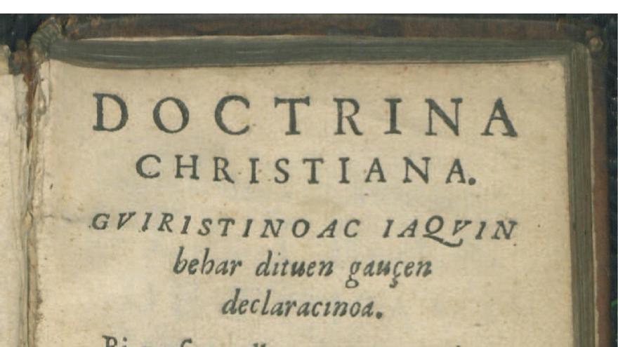 Portada de 'La Doctrina Cristiana', escrito por Esteve Materra en 1617