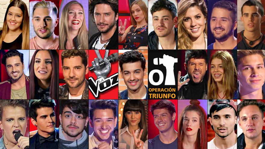 Artistas con pasado en 'La Voz' y 'OT'