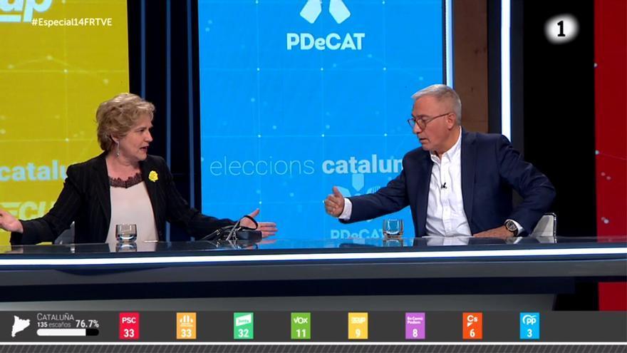 Pilar Rahola y Xavier Sardá en el especial de TVE