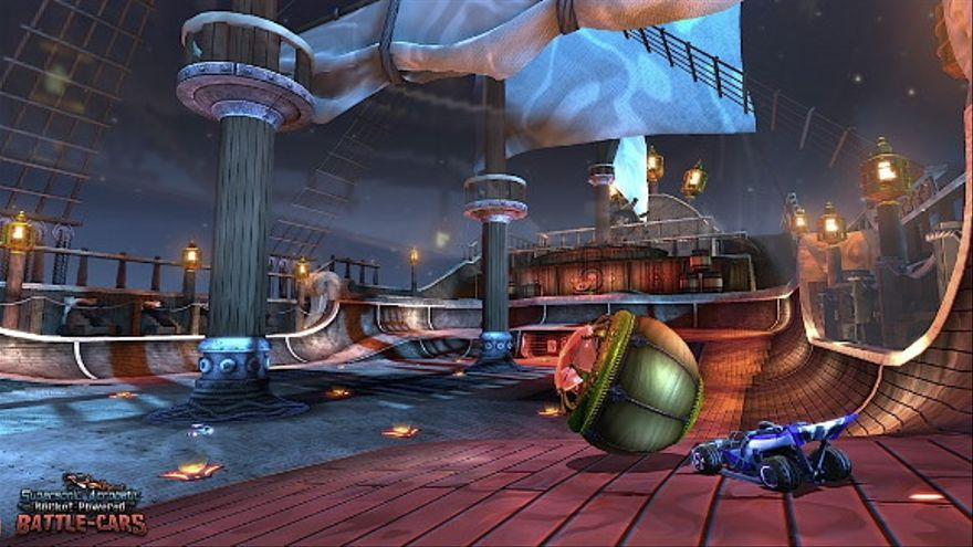 El nuevo campo de Rocket League y una de las gigantescas gradas del fondo