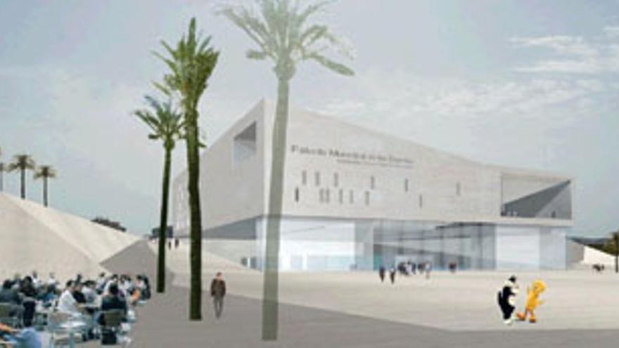 Proyecto del Palacio de Deportes de Gran Canaria, que será sede del Mundobasket.