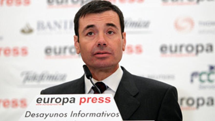 Tomás Gómez, en los desayunos de Europa Press