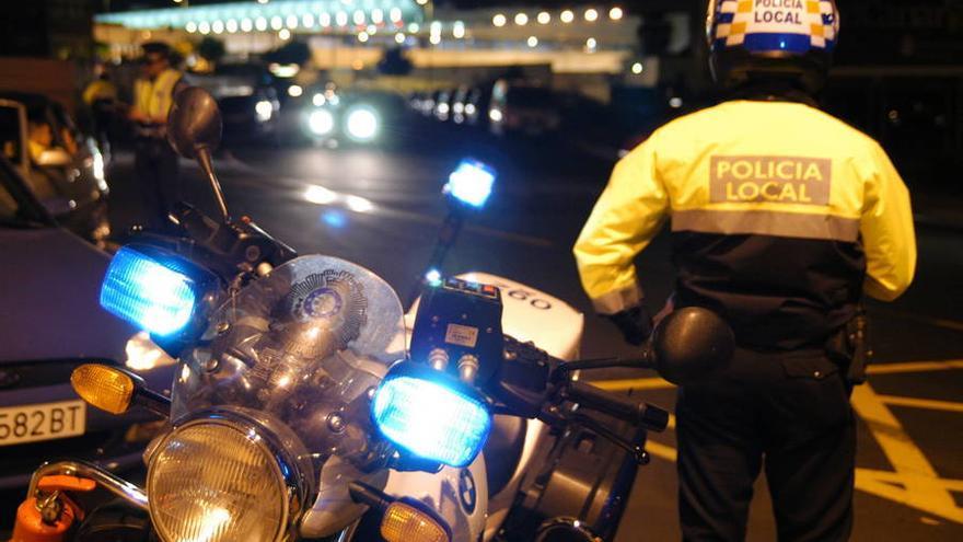 Control de alcoholemia de la Policía Local de Santa Cruz de Tenerife