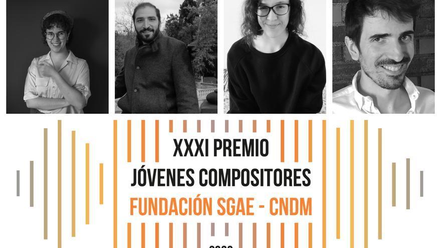 Cuatro finalistas del Premio Jóvenes Compositores de la SGAE
