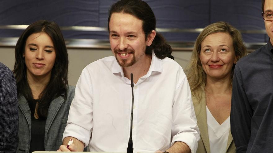 El secretario general de Podemos, Pablo Iglesias, este viernes en el Congreso.