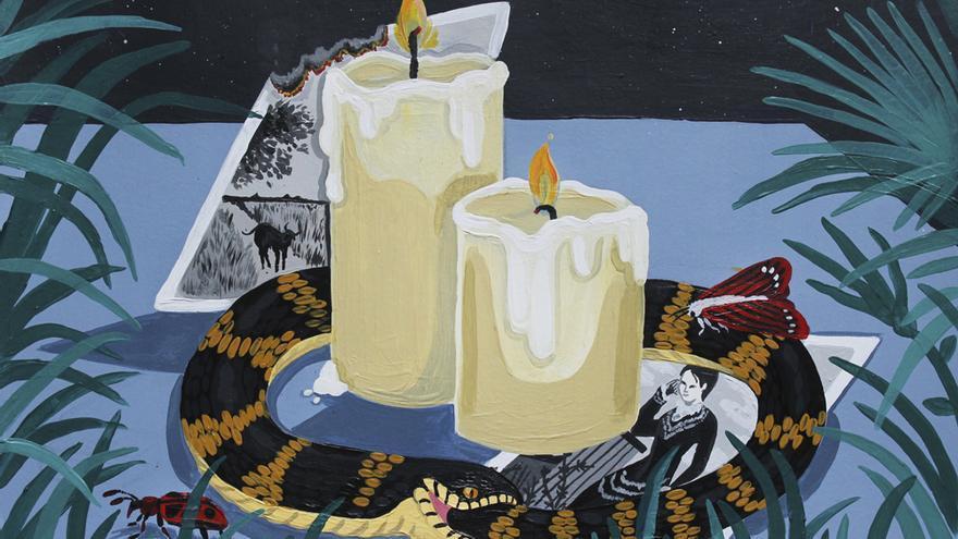 La galería Plastic Murs presenta su obra dedicada a 'La noche. El ave de alas negras' en torno a la seducción siniestra