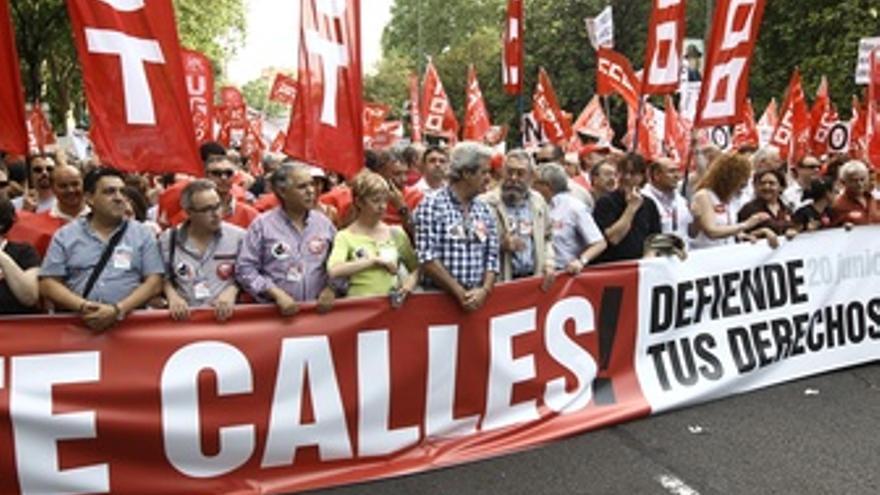 Toxo Y Méndez En La Manifestación Contra Los Recortes En Madrid