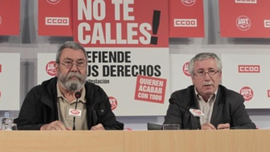 Toxo Y Méndez Presentan Movilizaciones De La Jornada Del 20-J