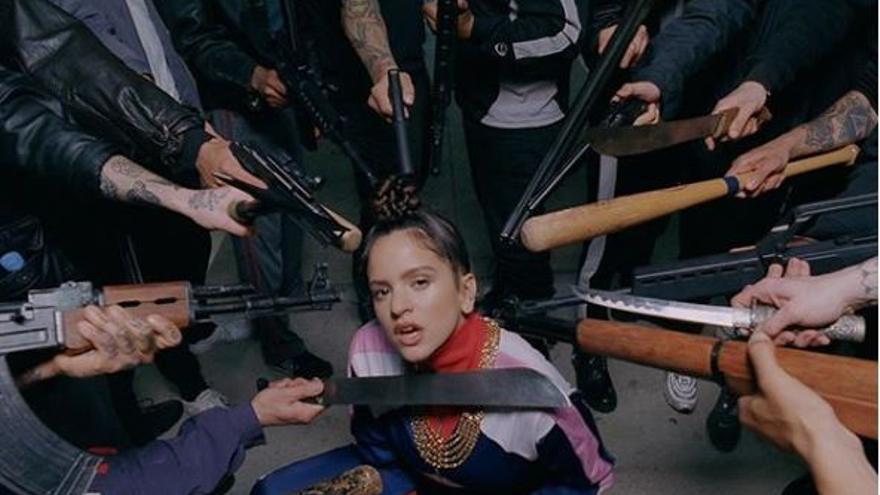 Rosalía en 'Pienso en tu mirá'