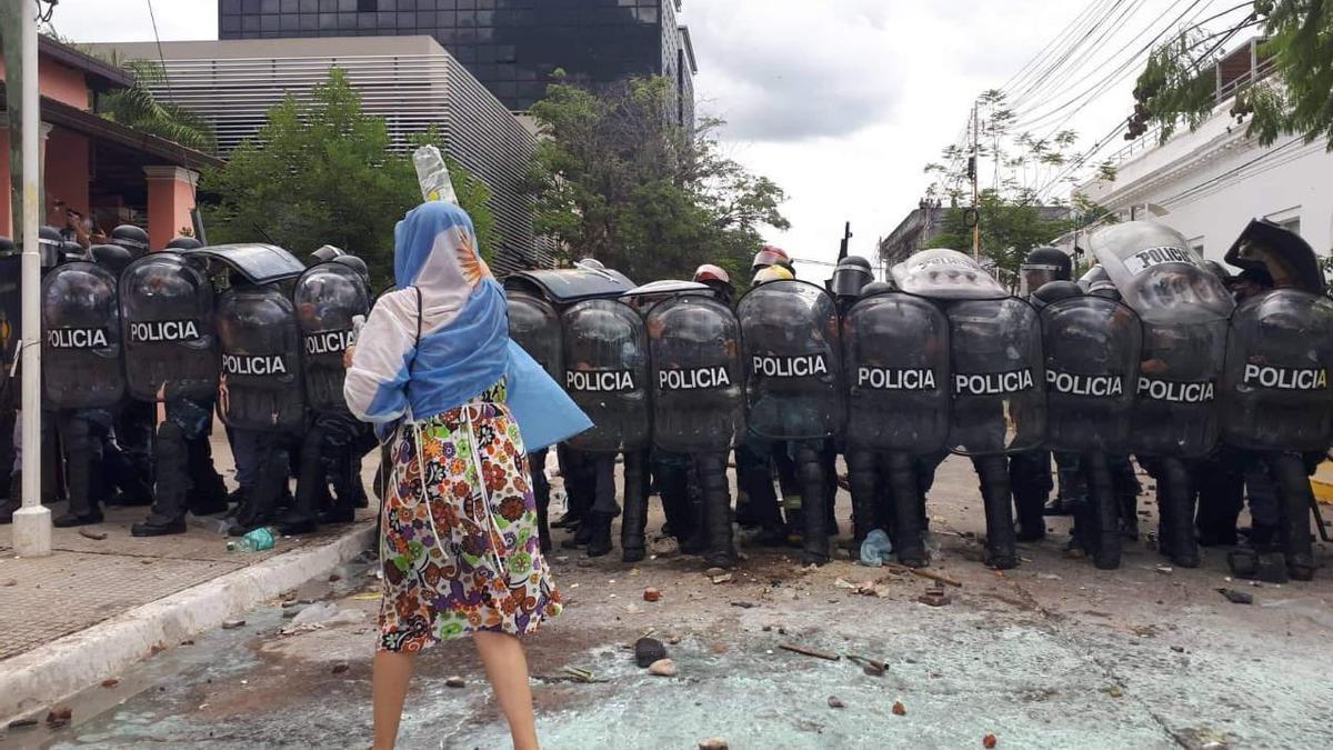 Marchas y represión en Formosa.