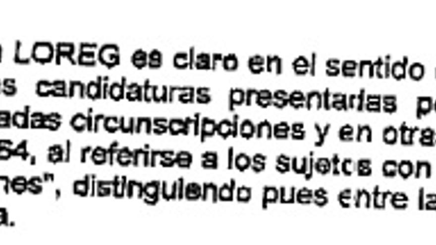 Fragmento del acuerdo de la JEC de 2011.