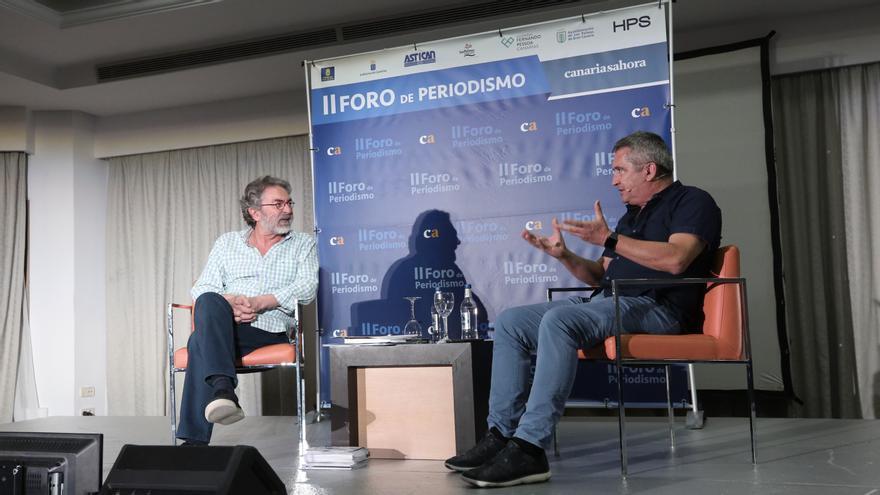 Antonio Rubio y Carlos Sosa, en el II Foro de Periodismo de Canarias Ahora