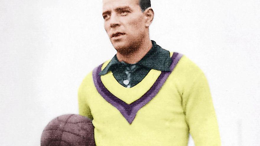 Ricardo Zamora visitó Tenerife en septiembre de 1925 como portero del Real Madrid.