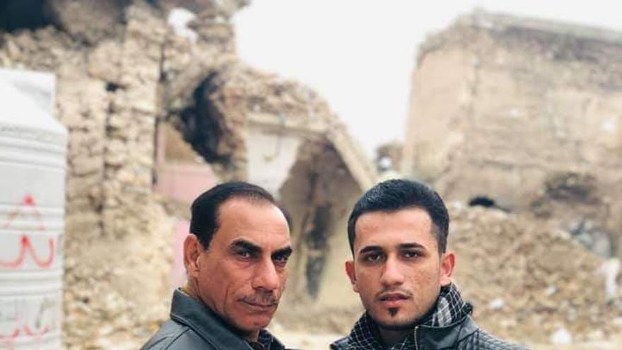 Dos de los periodistas detenidos este martes cuando informaban desde la ciudad antigua de Mosul.
