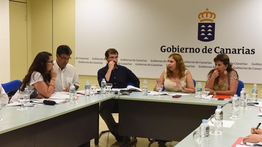 La viceconsejera Isabel Mena preside la mesa de trabajo con la Federación Canaria de Municipios (Fecam),