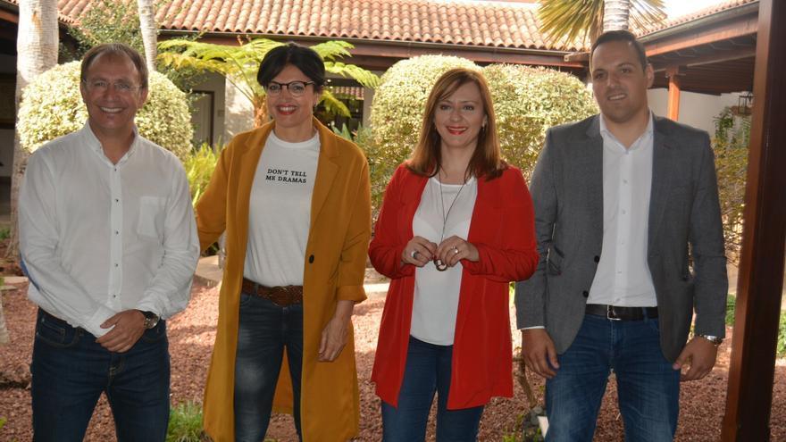 De izquierda a derecha: Sergio Rodríguez, Susa Armas, Nieves Lady Barreto y Jonathan Felipe.