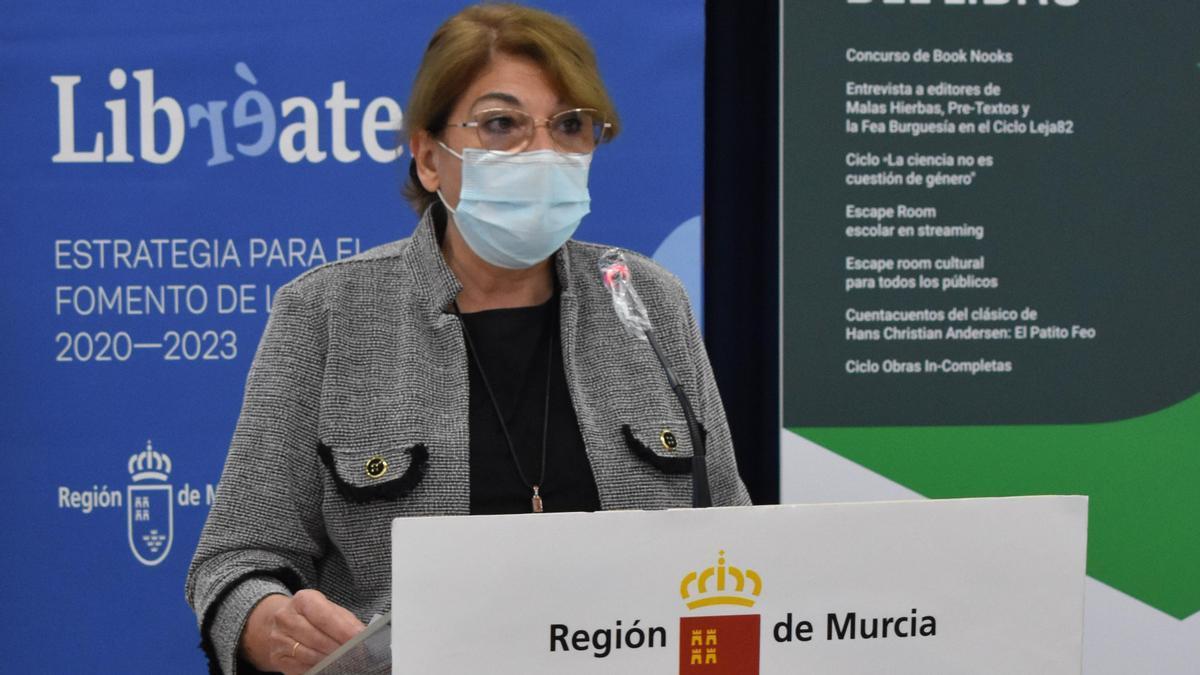 Mabel Campuzano, consejera de Educación y Cultura de la Región de Murcia