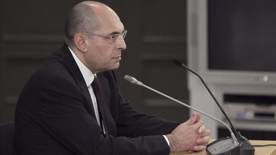 El juez Elpidio José Silva en un momento del juicio contra él en el Tribunal Superior de Justicia de Madrid