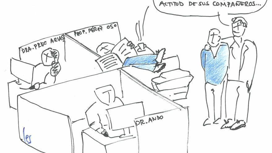 Investigadores y funcionarios, por Les