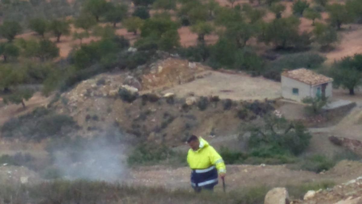 La 'muntanya tòxica' d'Olocau.