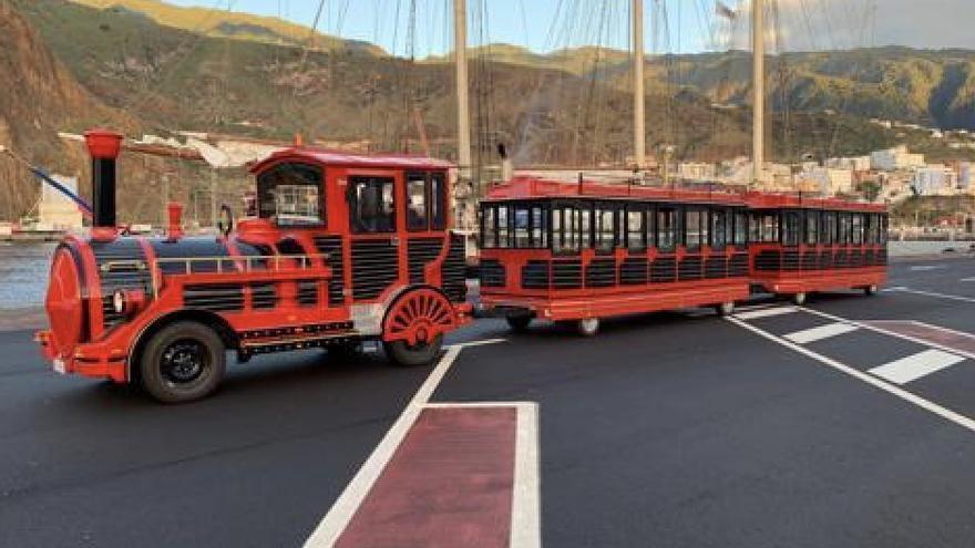 Trenecito turístico de TILP (Transportes Insular de La Palma).