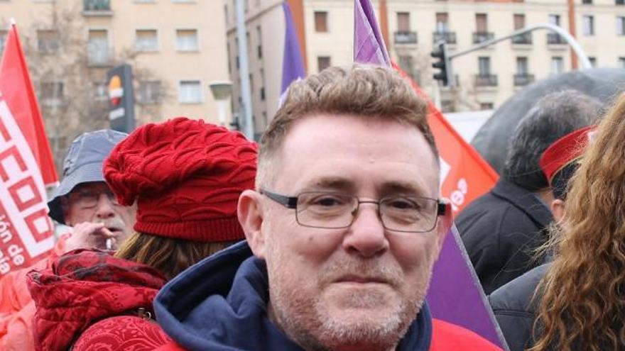 Alfonso Blanco, trabajador de Metro durante 30 años y delegado de CCOO en el suburbano.