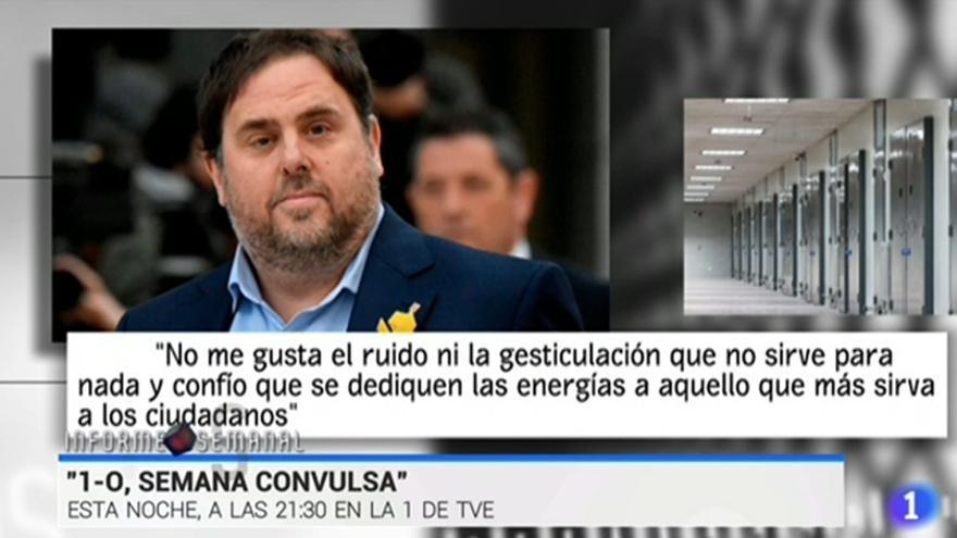 Oriol Junqueras, en Informe Semanal