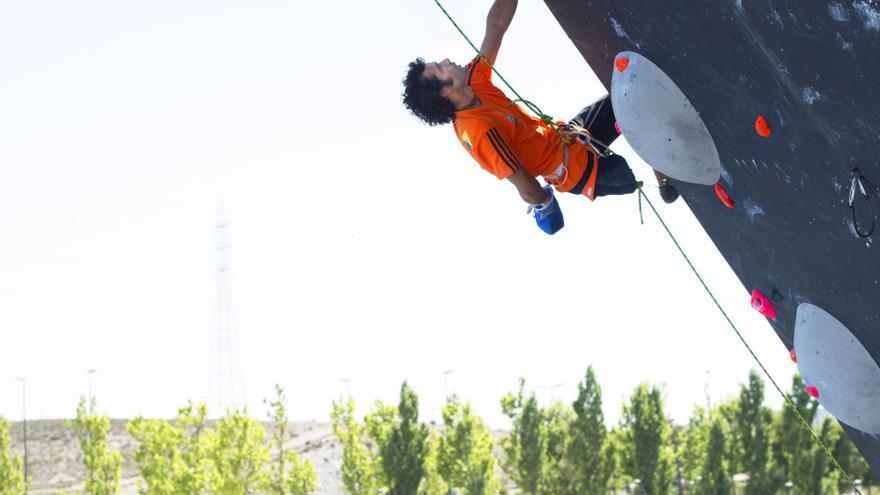 Urko Carmona durante las finales de este fin de semana en Zaragoza.