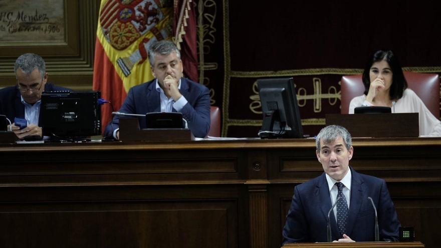 """Clavijo dice que el presupuesto """"es del Gobierno de Canarias, no del PSOE"""" y que recoge un 80% de lo pedido por ellos"""