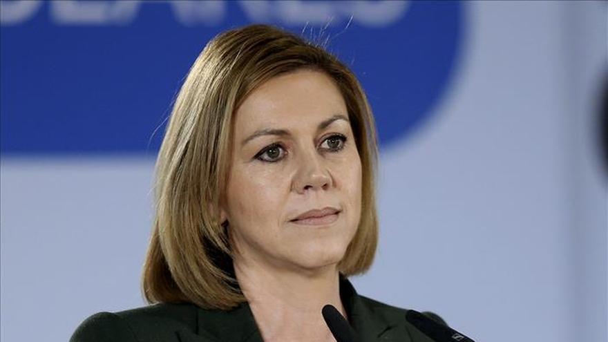 """Cospedal destaca que """"cuando vienen mal dadas"""" se encarga siempre al PP de gobernar """"y cumple"""""""