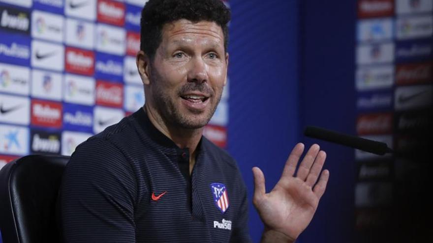 El técnico del Atlético de Madrid, el argentino Diego Pablo Simeone. EFE/Juan Carlos Hidalgo