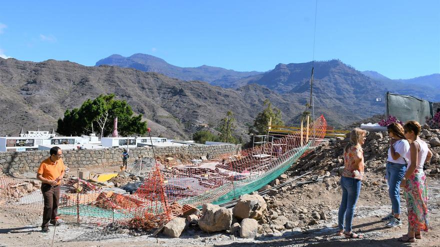 Obras de ampliación del cementerio de Mogán.