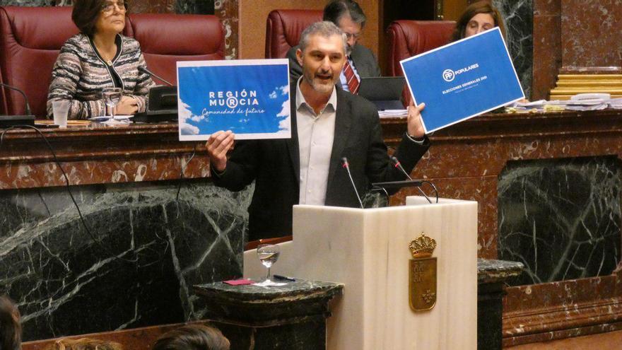 El portavoz regional de Podemos, Óscar Urralburu