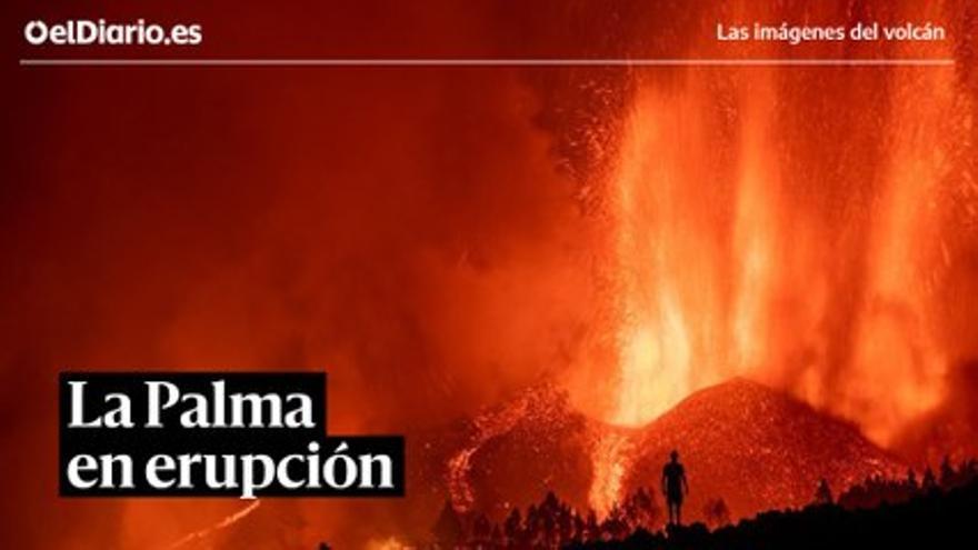 Los espectaculares vídeos del volcán de La Palma: capturado desde el aire y con la lava avanzando de noche