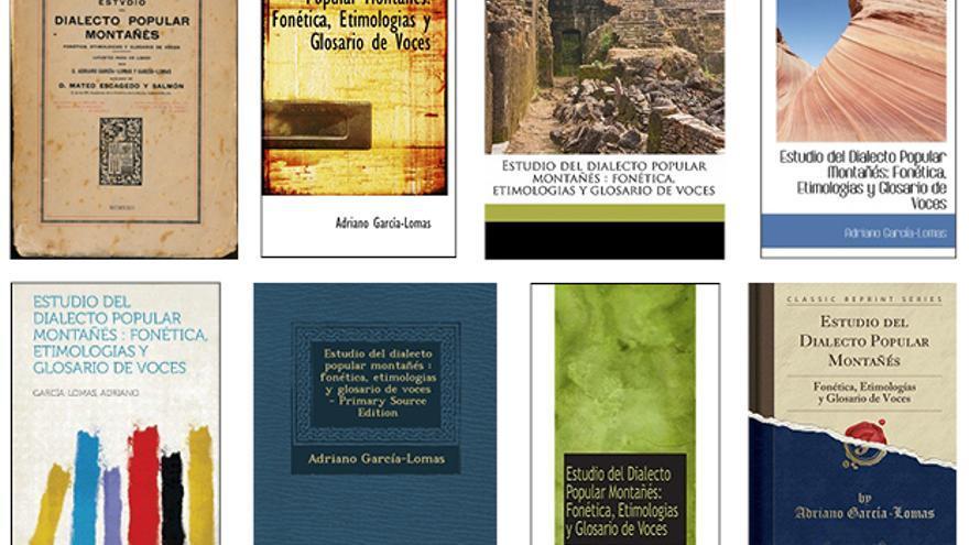 Imagen de la edición original donostiarra de 'El lenguaje popular'… y de siete ediciones extranjeras.