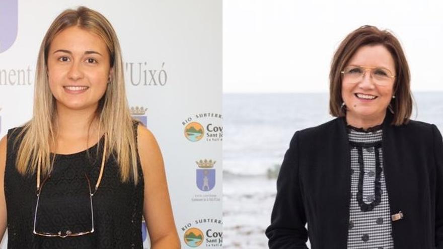 Tania Baños, presidenta del comité provincial del PSPV-PSOE y Xaro Miralles, alcaldesa de Benicarló.