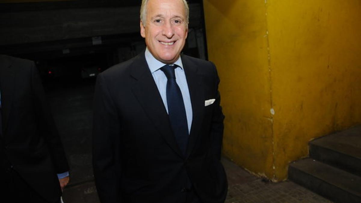 El contador Juan Pedro Damiani, en 2017, en la sede de Peñarol, club que presidía.