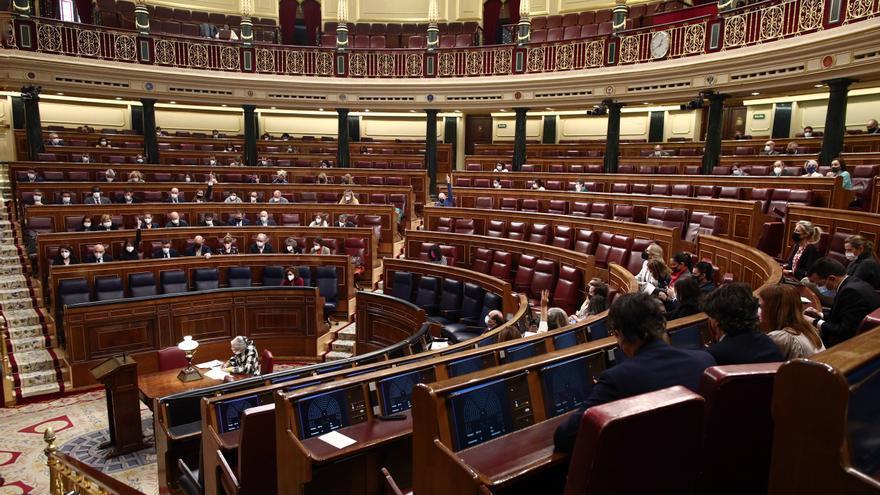 Miembros del hemiciclo durante una sesión plenaria en el Congreso de los Diputados