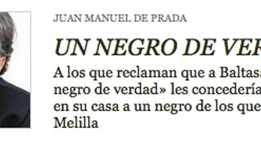 Captura del artículo de Juan Manuel de Prada en la web de ABC