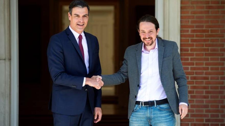 Sánchez e Iglesias inician el diálogo para alcanzar un pacto de la izquierda