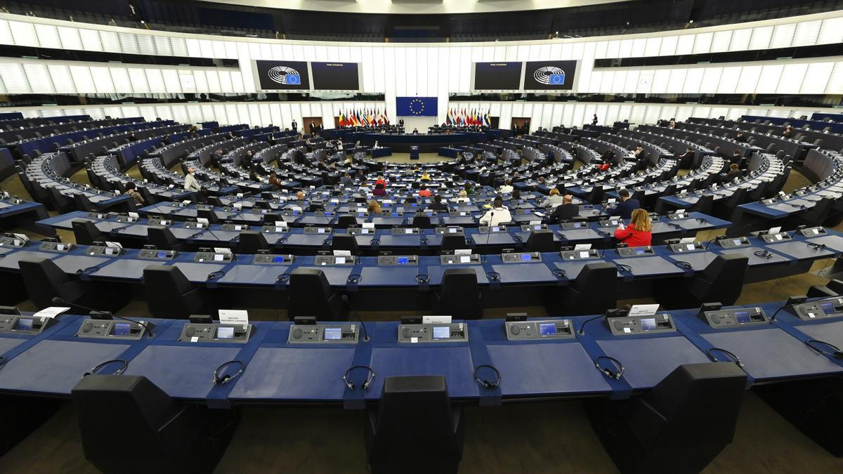 Una imagen del Parlamento Europeo en Estrasburgo este lunes.