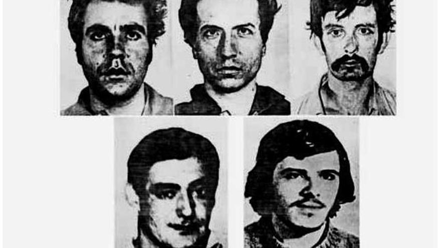Imagen de los últimos fusilados del franquismo el 27 de septiembre de 1975.